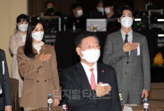 [포토] 고소영-유노윤호, 금융의 날 기념식 표창 수상자들